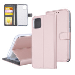 Book type case Apple iPhone 11 Card holder Rose Gold - Magnetic closure