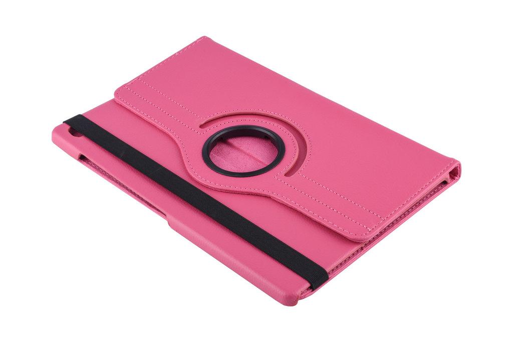 Andere merken Samsung Galaxy Tab S5e 10.5 inch Hot Pink Book Case Tablethoes Draaibaar - 2 kijkstanden - Kunstleer