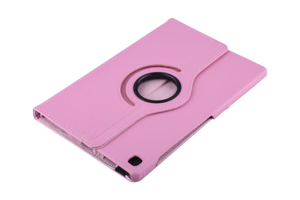 Andere merken Samsung Galaxy Tab S5e 10.5 inch Roze Book Case Tablethoes Draaibaar - 2 kijkstanden - Kunstleer