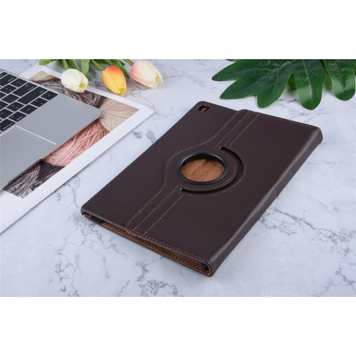 Andere merken Book case Tablet Samsung Galaxy Tab S5e 10.5 inch Rotatable Brown for Galaxy Tab S5e 10.5 inch 2 Viewing Positions