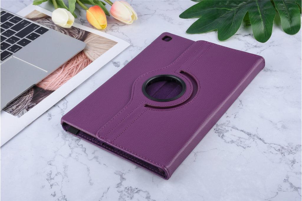 Andere merken Samsung Galaxy Tab S5e 10.5 inch Paars Book Case Tablethoes Draaibaar - 2 kijkstanden - Kunstleer