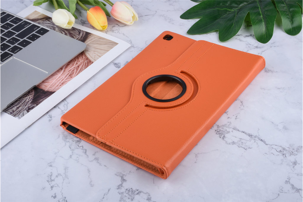 Andere merken Book case Tablet Samsung Galaxy Tab S5e 10.5 inch Rotatable Orange for Galaxy Tab S5e 10.5 inch 2 Viewing Positions