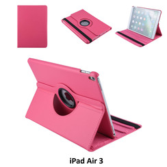 Apple iPad Air 3 Hot Pink Book Case Tablethoes Draaibaar - 2 kijkstanden - Kunstleer