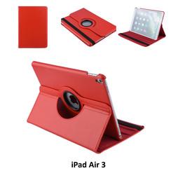 Apple iPad Air 3 Rood Book Case Tablethoes Draaibaar - 2 kijkstanden - Kunstleer