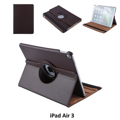 Apple iPad Air 3 Bruin Book Case Tablethoes Draaibaar - 2 kijkstanden - Kunstleer