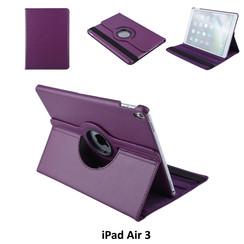 Apple iPad Air 3 Paars Book Case Tablethoes Draaibaar - 2 kijkstanden - Kunstleer