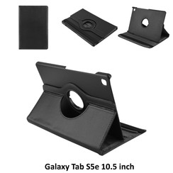 Book Case Tablet Samsung Galaxy Tab S5e 10.5 inch Drehbar Schwarz -2 Betrachtungspositionen - Kunstleer