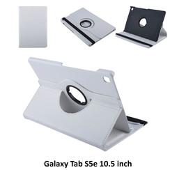 Samsung Galaxy Tab S5e 10.5 inch Wit Book Case Tablethoes Draaibaar - 2 kijkstanden - Kunstleer
