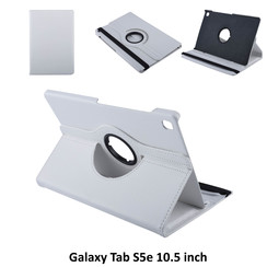 Tablet Housse Samsung Galaxy Tab S5e 10.5 inch Rotatif Blanc - 2 positions d'observation