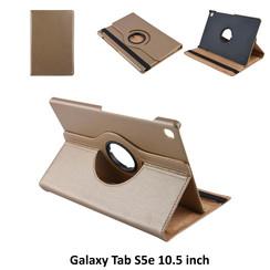 Samsung Galaxy Tab S5e 10.5 inch Goud Book Case Tablethoes Draaibaar - 2 kijkstanden - Kunstleer