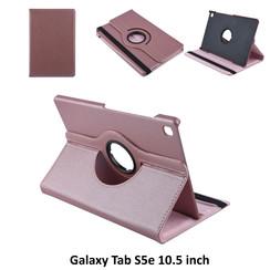 Samsung Galaxy Tab S5e 10.5 inch Rose Gold Book Case Tablethoes Draaibaar - 2 kijkstanden - Kunstleer