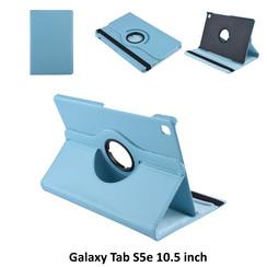 Samsung Galaxy Tab S5e 10.5 inch Blauw Book Case Tablethoes Draaibaar - 2 kijkstanden - Kunstleer