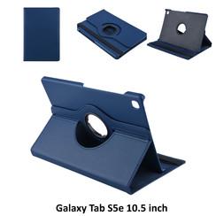 Tablet Housse Samsung Galaxy Tab S5e 10.5 inch Rotatif Bleu - 2 positions d'observation