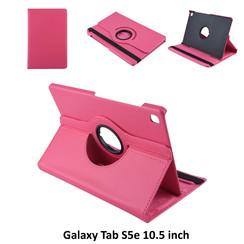Samsung Galaxy Tab S5e 10.5 inch Hot Pink Book Case Tablethoes Draaibaar - 2 kijkstanden - Kunstleer