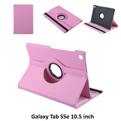 Samsung Galaxy Tab S5e 10.5 inch Roze Book Case Tablethoes Draaibaar - 2 kijkstanden - Kunstleer