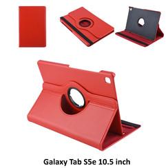 Samsung Galaxy Tab S5e 10.5 inch Rood Book Case Tablethoes Draaibaar - 2 kijkstanden - Kunstleer