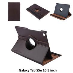 Samsung Galaxy Tab S5e 10.5 inch Bruin Book Case Tablethoes Draaibaar - 2 kijkstanden - Kunstleer