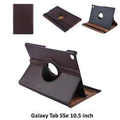 Tablet Housse Samsung Galaxy Tab S5e 10.5 inch Rotatif Marron - 2 positions d'observation