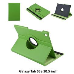 Samsung Galaxy Tab S5e 10.5 inch Groen Book Case Tablethoes Draaibaar - 2 kijkstanden - Kunstleer