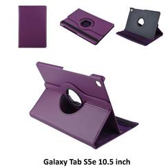 Samsung Galaxy Tab S5e 10.5 inch Paars Book Case Tablethoes Draaibaar - 2 kijkstanden - Kunstleer