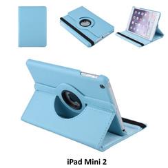 Apple iPad Mini 3 L-Blauw Book Case Tablethoes Draaibaar - 2 kijkstanden - Kunstleer