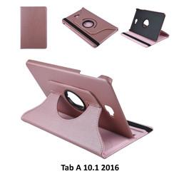 Samsung Tab A 10.1 2016 Rose Gold Book Case Tablethoes Draaibaar - 2 kijkstanden - Kunstleer