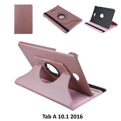 Tablet Housse Samsung Tab A 10.1 2016 Rotatif Rose Or - 2 positions d'observation
