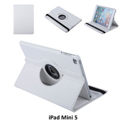 Apple iPad Mini 5 Wit Book Case Tablethoes Draaibaar - 2 kijkstanden - Kunstleer