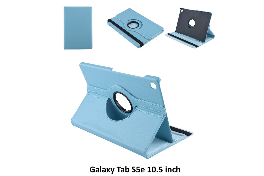 Andere merken Book case Tablet Samsung Galaxy Tab S5e 10.5 inch Rotatable blue for Galaxy Tab S5e 10.5 inch 2 Viewing Positions