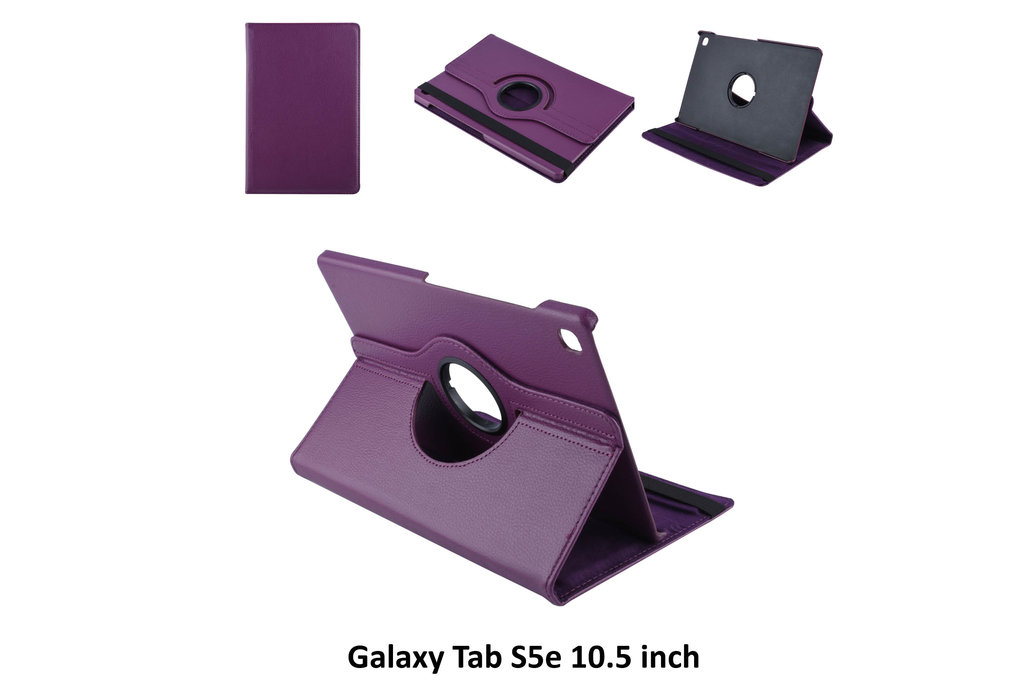 Andere merken Book case Tablet Samsung Galaxy Tab S5e 10.5 inch Rotatable Purple for Galaxy Tab S5e 10.5 inch 2 Viewing Positions