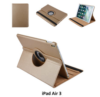 Book case Tablet Apple iPad Air 3 Rotatable Gold for iPad Air 3 2 Viewing Positions