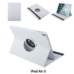 Apple iPad Air 3 Wit Book Case Tablethoes Draaibaar - 2 kijkstanden - Kunstleer