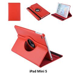 Apple iPad Mini 5 Rood Book Case Tablethoes Draaibaar - 2 kijkstanden - Kunstleer