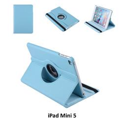 Apple iPad Mini 5 Blauw Book Case Tablethoes Draaibaar - 2 kijkstanden - Kunstleer