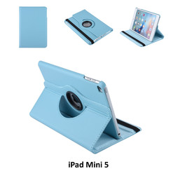 Tablet Housse Apple iPad Mini 5 Rotatif Bleu - 2 positions d'observation