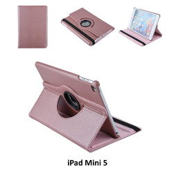 Apple iPad Mini 5 Rose Gold Book Case Tablethoes Draaibaar - 2 kijkstanden - Kunstleer
