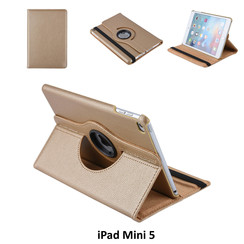 Apple iPad Mini 5 Goud Book Case Tablethoes Draaibaar - 2 kijkstanden - Kunstleer
