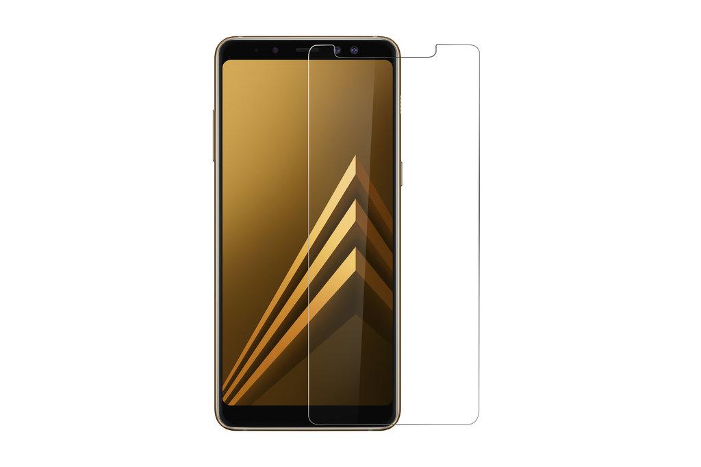 Andere merken Samsung Galaxy A8 Plus (2018) Transparant Screenprotector Schermbescherming - Tempered Glas - Glas