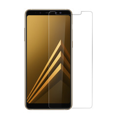 Screenprotector Samsung Galaxy A8 Plus (2018) Protection d'écran Transparent - Tempered Glas