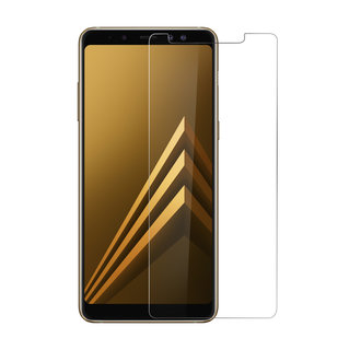 Samsung Galaxy A8 Plus (2018) Transparant Screenprotector Schermbescherming - Tempered Glas - Glas