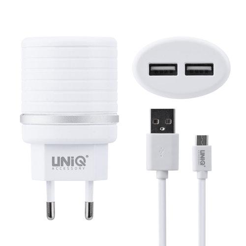 UNIQ Accessory UNIQ Accessory Dual Port 2.4A travel charger - USB Type-C White (CE)