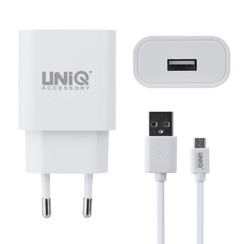 UNIQ Accessory 2.4A travel charger - USB Type-C Wit (CE)