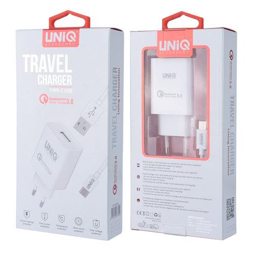 UNIQ Accessory UNIQ Accessory 2.4A travel charger - USB Type-C White (CE)