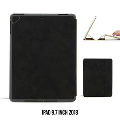 Tablet Housse Apple iPad 9.7 inch 2018 Smart Case Noir - Marbre