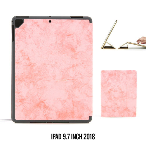 Andere merken Book case Tablet Apple iPad 9.7 inch 2018 Smart Case Pink for iPad 9.7 inch 2018 Marble
