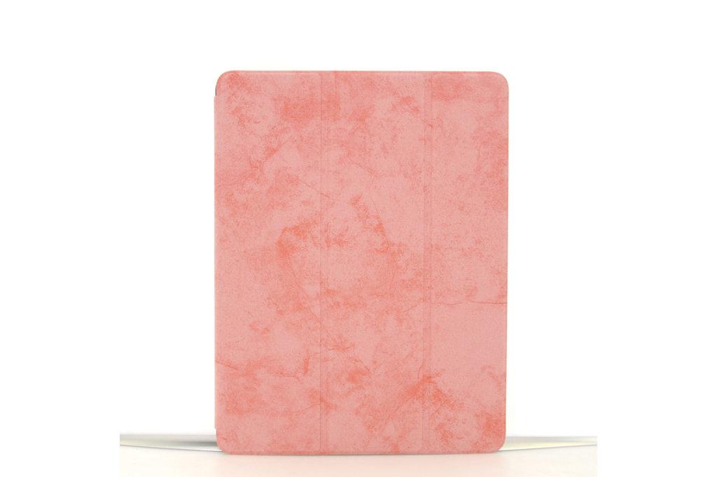 Andere merken Apple iPad 9.7 inch 2018 Roze Book Case Tablethoes Smart Case - Marmer - Kunstleer