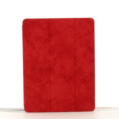 Andere merken Apple iPad 9.7 inch 2018 Rood Book Case Tablethoes Smart Case - Marmer - Kunstleer