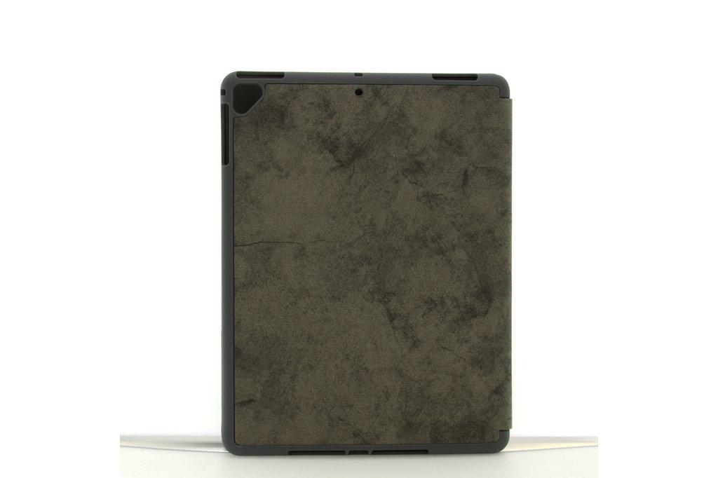 Andere merken Apple iPad 9.7 inch 2018 Grijs Book Case Tablethoes Smart Case - Marmer - Kunstleer