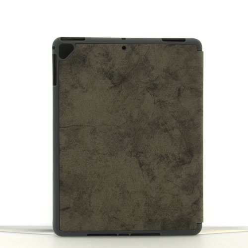 Andere merken Apple iPad 9.7 inch 2018 Grijs Book Case Tablethoes Smart Case - Marmer - Kunstleer