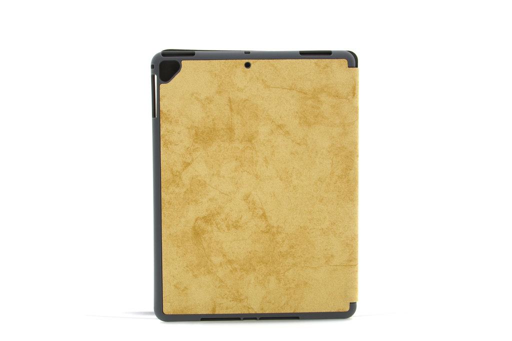 Andere merken Apple iPad 9.7 inch 2018 Bruin Book Case Tablethoes Smart Case - Marmer - Kunstleer